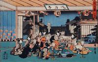 Hiroshige~Act VII Yuranosuke Dining with the Spy K