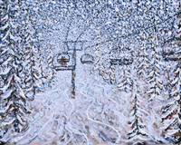 Chair Lift Ski Print