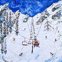 Chair Lift on a Blue Sky Day