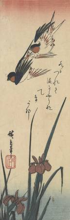Hiroshige~Birds and Iris