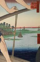 Hiroshige~Haneda Ferry and Benten Shrine (Haneda n