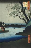 Hiroshige~Oumayagashi, No. 105 from One Hundred Fa