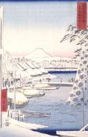 Hiroshige~Sukiya Riverbank in the Eastern Capital