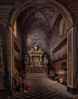 Gabriele Carelli~Inside the Sacristy of the Church