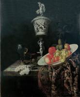 Georg Hinz~Still life with ivory goblet, fruits an