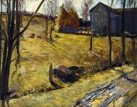 George Bellows~Haystacks and Barn