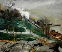 George Bellows~Rain on the River