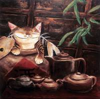 Cat art by catmaSutra - Afternoon Tea
