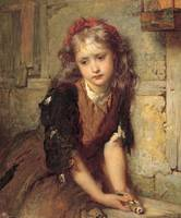 George Elgar Hicks~The dead goldfinch (All that wa