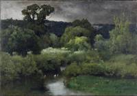 George Inness, Sr.~A Gray Lowery Day