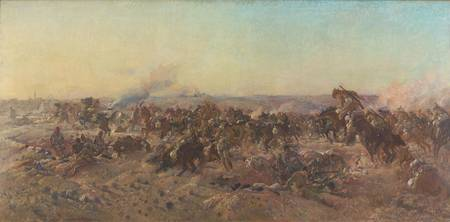 George Washington Lambert~The Charge of the Austra