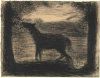 Georges Seurat~Foal (Le Poulain) [also called The