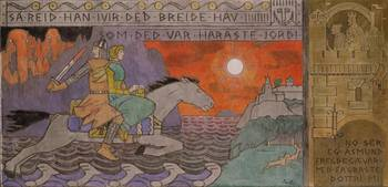 Gerhard Munthe~Åsmund and the Princess riding Home