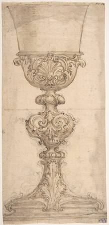 Giovanni Battista Foggini~Design for a Chalice wit