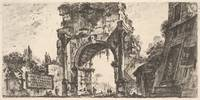 Giovanni Battista Piranesi~Plate 8 Arch of Drusus