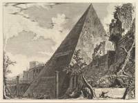 Giovanni Battista Piranesi~The Pyramid of Gaius Ce