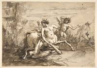 Giovanni Domenico Tiepolo~Centaur with a Club, and