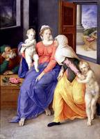 Giulio Clovio~Holy Family with Santa Isabel and Sa