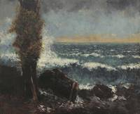 Gustave Courbet~Seascape, the Poplar