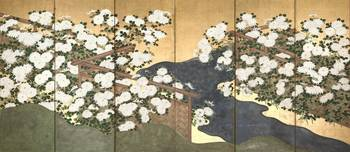 Hasegawa Tōhaku~Folding Screen with Design of Whit