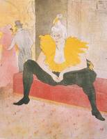 Henri de Toulouse-Lautrec~The Seated Clowness (Mad