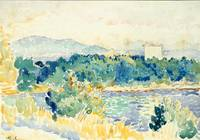 Henri-Edmond Cross~Mediterranean Landscape with a