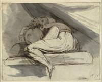 Henry Fuseli~Woman Sitting, Curled up