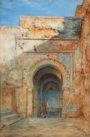 Henry Stanier~Old Moorish gateway, Alhambra