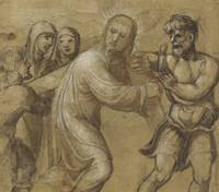 Il Sodoma~Christ Carrying the Cross (recto); The R
