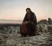 Ivan Kramskoi~Christ in the Wilderness