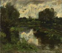 Jacob Maris~A Polder Landscape after a Thunderstor