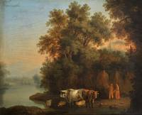 Jacob Philipp Hackert~Riverside cattle