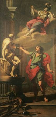 Jacopo Alessandro Calvi~Prometheus animates man in