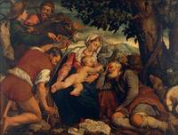 Jacopo Bassano~The Rest on the Flight into Egypt