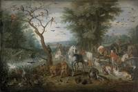 Jan Brueghel the Elder~Paradise Landscape with the