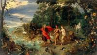 Jan Brueghel the Younger~Adam and Eve in the Garde