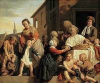 Jan de Bray~Caring for the children at the Orphana