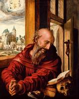 Jan Sanders van Hemessen~Saint Jerome as a Monk