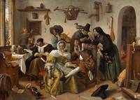 "Jan Steen~Beware of Luxury (""In Weelde Siet Toe"")"