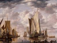 Jan van de Cappelle~Shipping in a Calm at Flushing