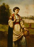 Jean-Baptiste-Camille Corot~Woman with Water Jar