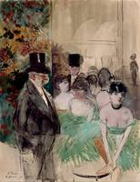 Jean-Louis Forain~Intermission. On Stage