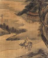Jeong Seon~Lao Tzu Leaving on an Ox