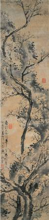 Jo Hui-ryong (1789~1866)~Flowering Plum Tree