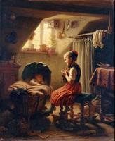 Johann Georg Meyer~Housewife (A Lullaby)