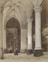 Johannes Bosboom~Southern aisle of the Great Churc
