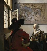 Johannes Vermeer~Officer and Laughing Girl