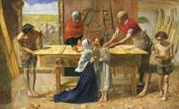 John Everett Millais~Christ in the House of His Pa