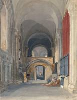 John Sell Cottman~Norwich Cathedral Interior of th