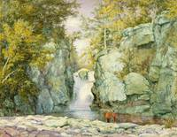 John William Hill~Fawn's Leap, Catskill Mountains